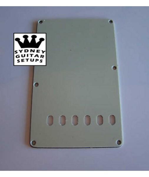 Fender 3-ply Mint Back Plate vintage 6 holes