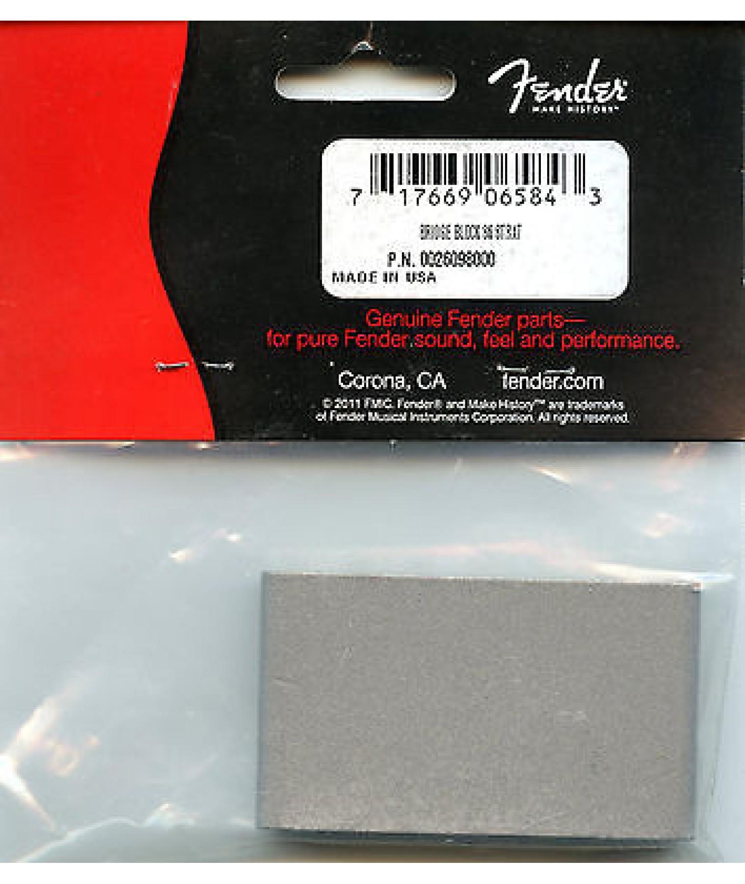 86 To '07 Steel Tremolo Bridge Block Fender 0026098000