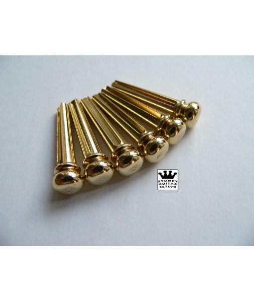 Bikini brass bridge pin for acoustic