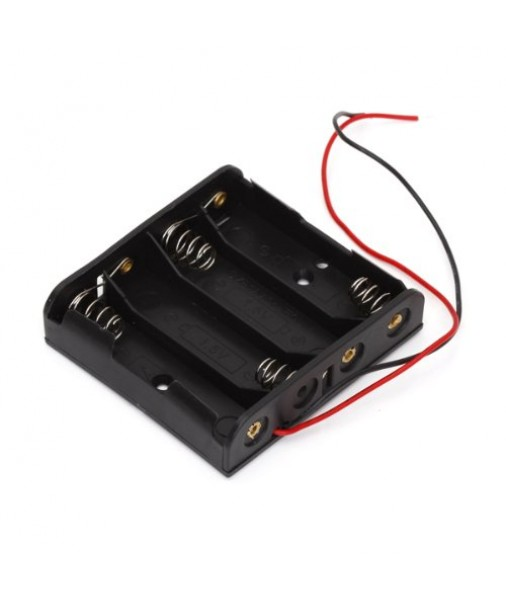 Plastic Battery  Box  TAKES 4 AA - EBBP4