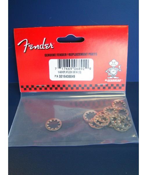 Fender Nickel Lock Washers 3/8 For Fender Pots & Jacks, 0016436049