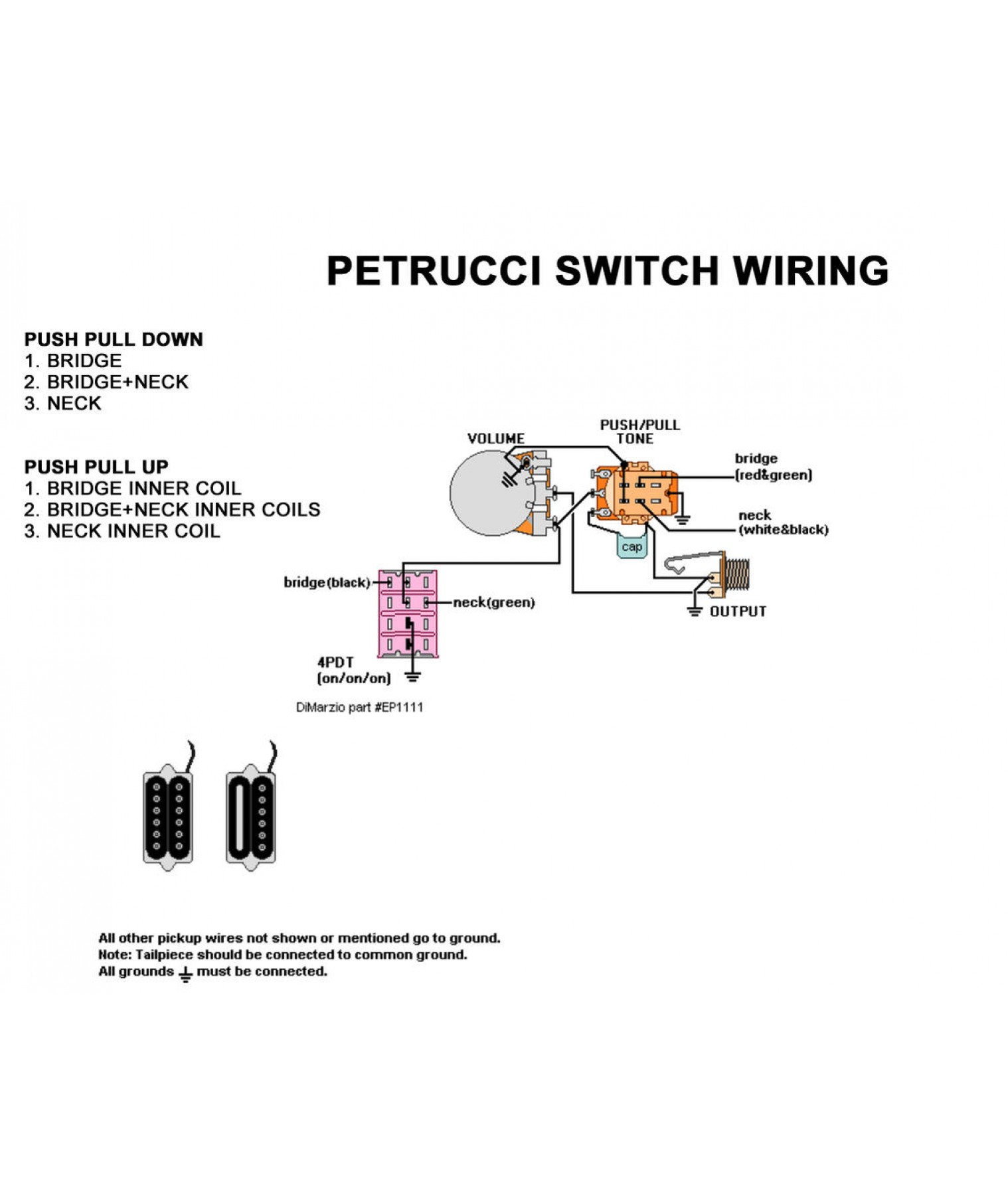 Wiring diagram for dimarzio humbuckers yhgfdmuor net dimarzio b wiring diagram diagram get free image about wiring, wiring diagram, 4PDT Switch