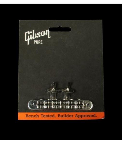 GIBSON Nashville TUNE-O-MATIC BRIDGE NICKEL PBBR-045