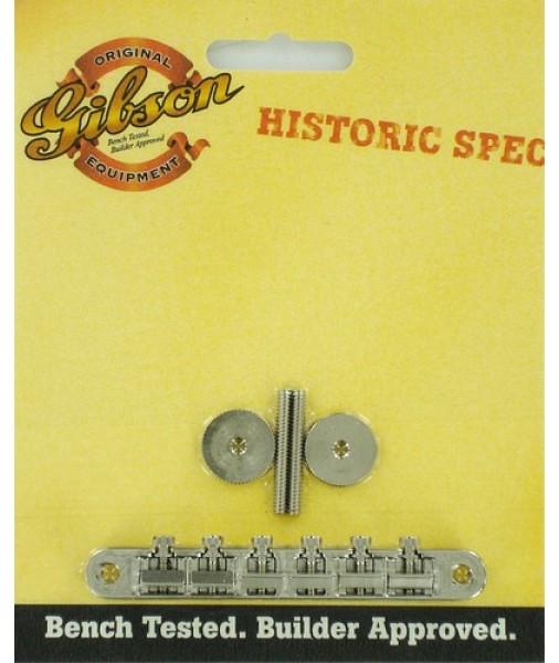 GIBSON HISTORIC SPEC NON-WIRE TUNE-O-MATIC BRIDGE NICKEL PBBR-059