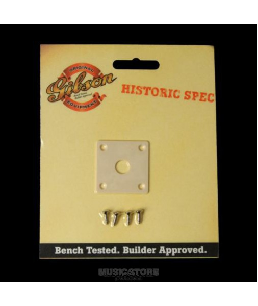 Gibson Historic Output Jack Plate. Creme PRJP-059