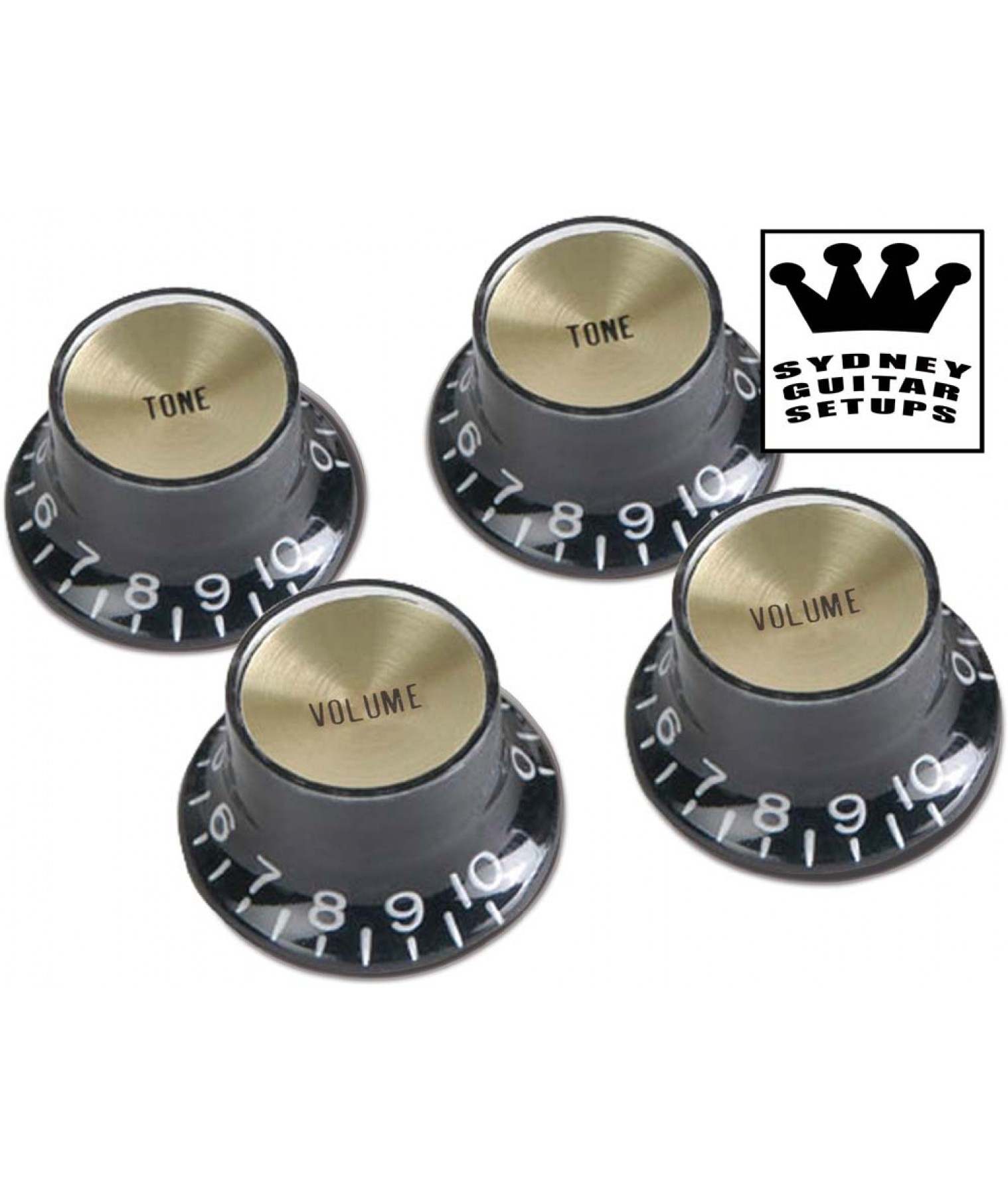 gibson top hat black w gold metal insert prmk 020. Black Bedroom Furniture Sets. Home Design Ideas