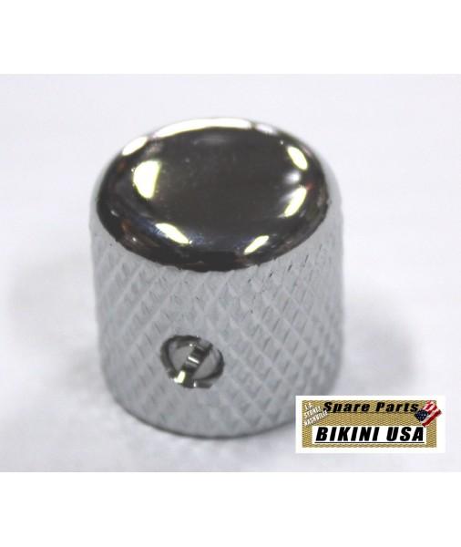 BIKINI Tele Domed Metal 1950's Knob Chrome USA SIZE CTS SOLD SHAFT