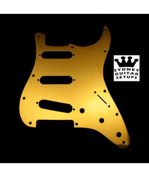 Gold-Plated Brass Fender Pickguard For Strat 0991360200