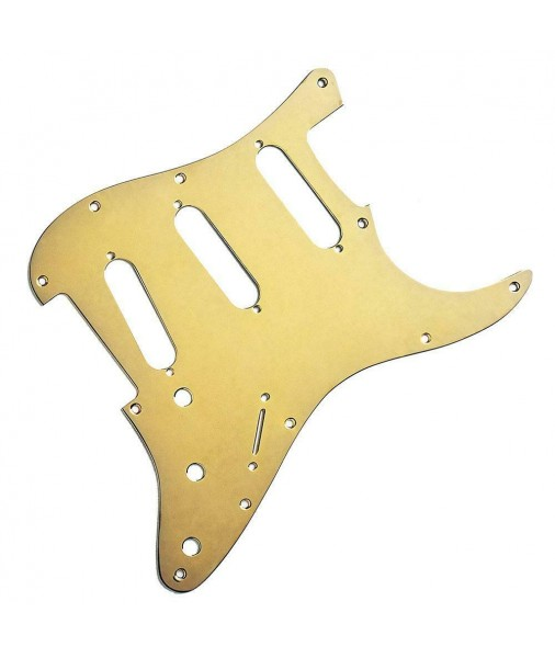 Fender Strat Pickguard 11 Hole, Anodized Aluminum, Gold 0992139000