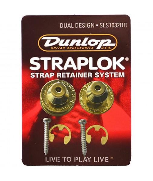 DUNLOP - J103BR DUAL DESIGN STRAP LOCK BRASS SLS1032BR