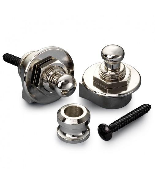 SCHALLER Strap Locks Nickel Set 10710 14010101