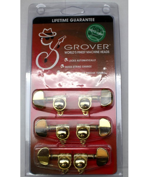 GROVER ROTO GRIP locking 3 a side GOLD GRO502G