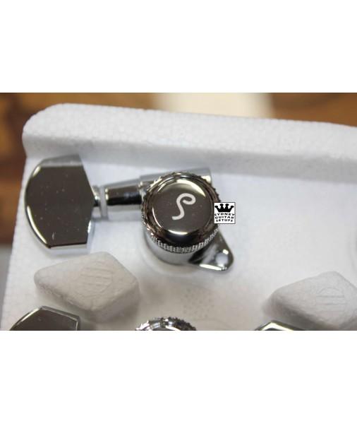 Schaller 3 a Side Locking Tuners - Chrome 10060223 TK 0976-010