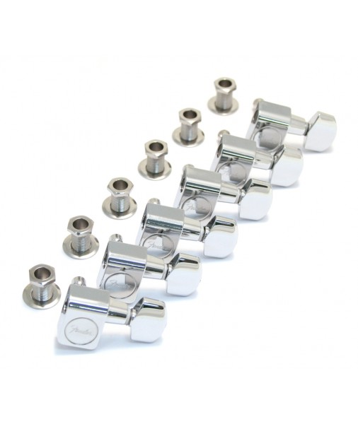 FENDER Tuning keys AM series chrome 6 in a row no screw 099082010