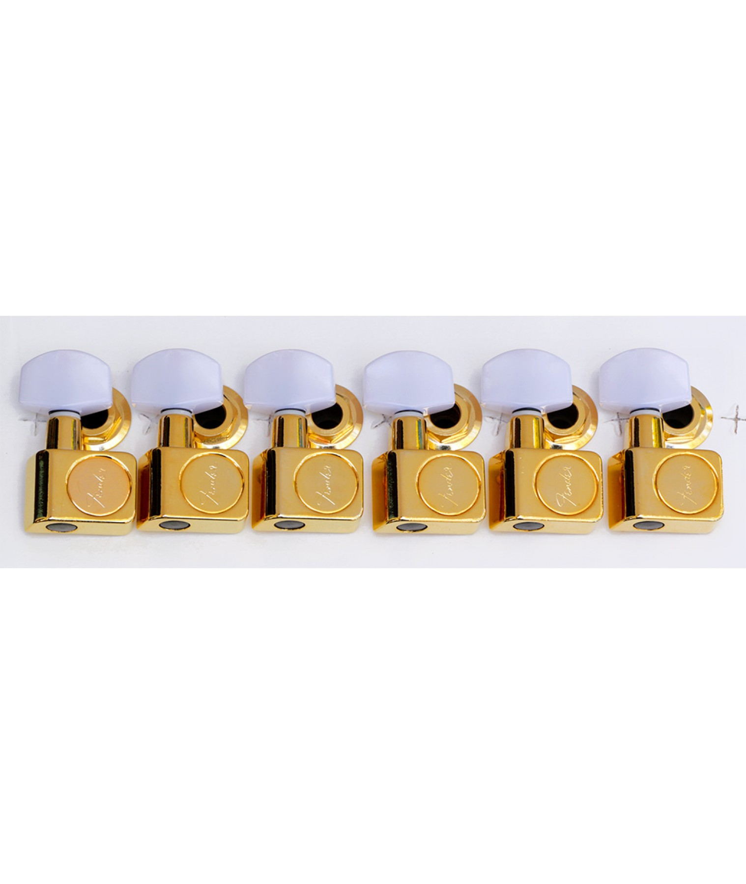 Fender XGE-1G Deluxe Gold Tuners White Pearl Buttons 0990846200