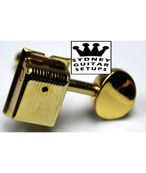 6 In a Line Kluson Tuners Gold SD9105MG