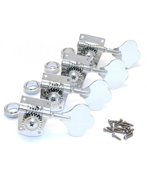 Fender Bass Tuners, Mexico Standard And Highway 1 Series, Chrome, Set of 4 0036400049