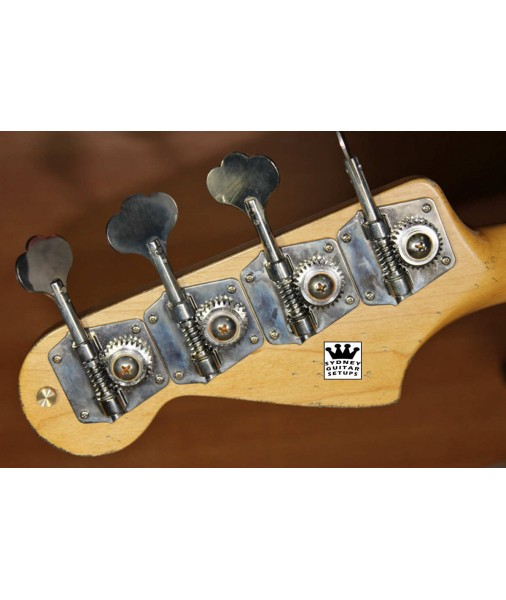 GOTOH 4 In Line Bass Machine Heads Vintage P & J FENDER GB9L GB2