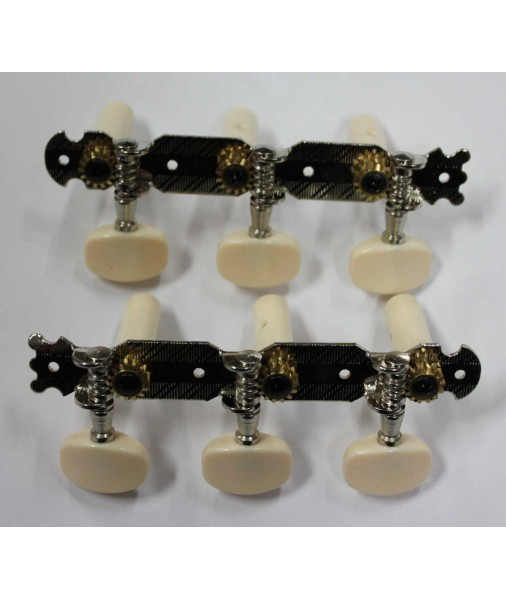 Fender Classical Tuners 500 series chrome - plastic buttons