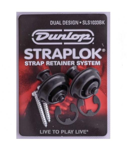 JIM DUNLOP DUAL STRAPLOCKS BLACK J103B