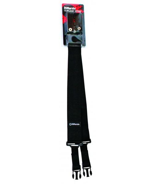 DiMARZIO CLIP LOCK STRAP BLACK DD2200B