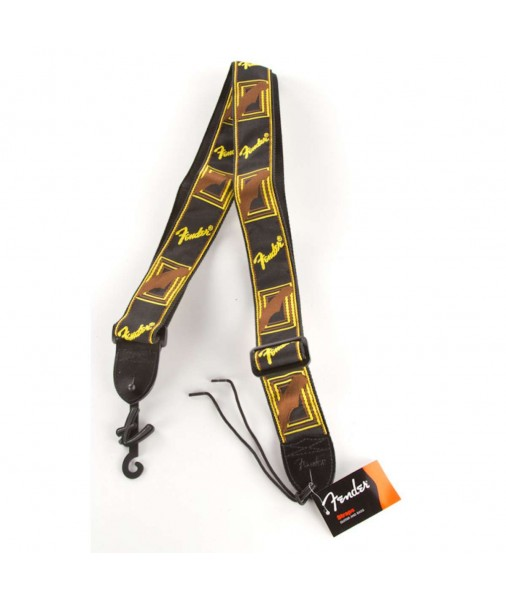 FENDER 2' Cloth Strap Blk/Ylw/Brn 0990681000