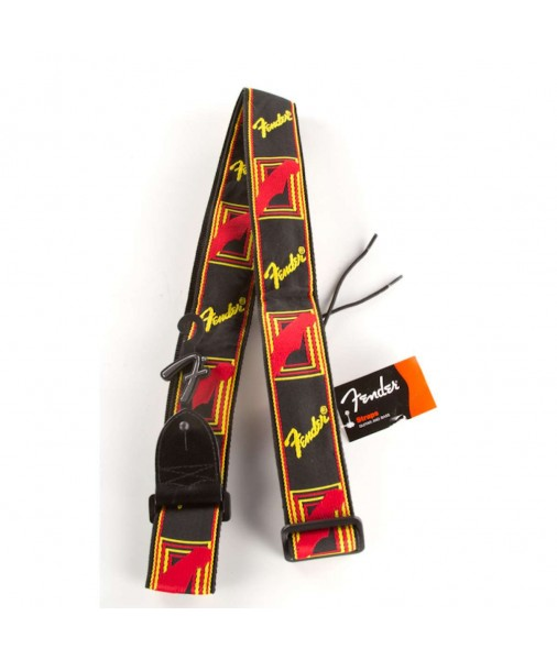 FENDER 2' Cloth Strap Blk/Yel/Red 0990681500