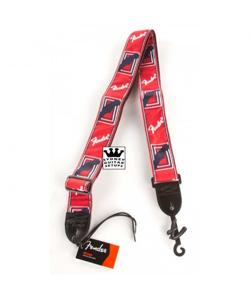 FENDER 2' Cloth Strap RED/WHITE/BLUE 0990682000