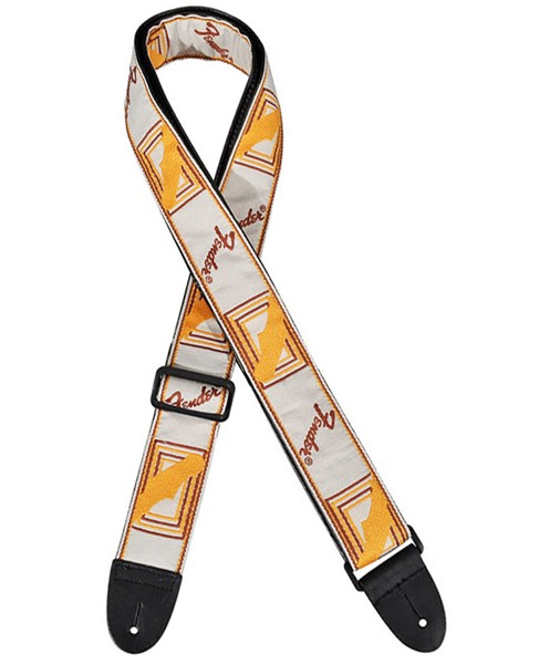 FENDER 2' Cloth Strap WHITE/BROWN/YELLOW 0990683000