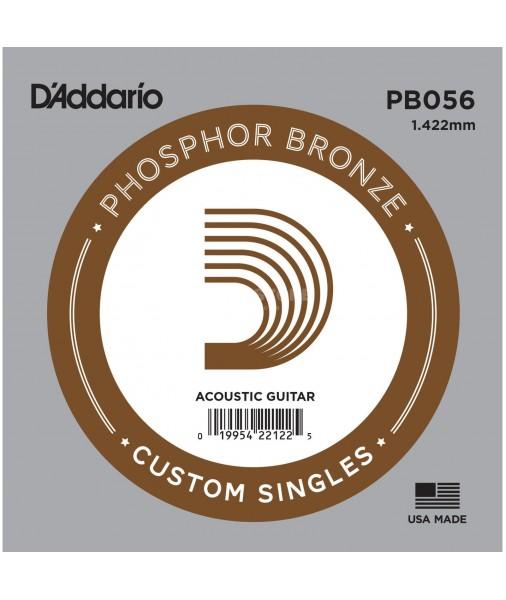 D'Addario PHOSPHOR BRONZE Wound  Single String .056