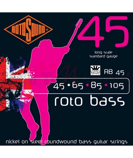 ROTOSOUND ROTO BASS NICKEL 45 TO 105