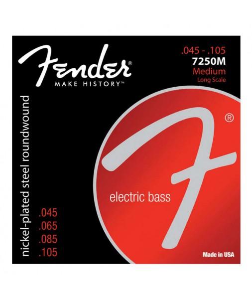45 to 105 FENDER Bass strings 7250M Nickel Plated Steel Long Scale Medium  0737250406