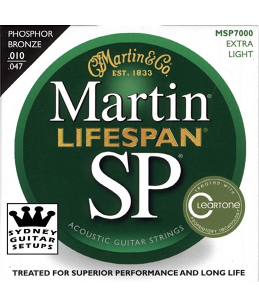 Martin SP Lifespan Phosphor Bronze Treated Acoustic 10 TO 47 MSP7000