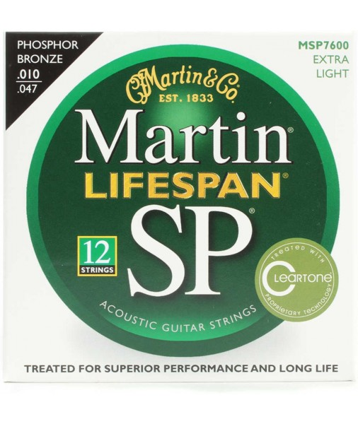 Martin SP Lifespan Phosphor Bronze Treated Acoustic 10 TO 47 12 STRING