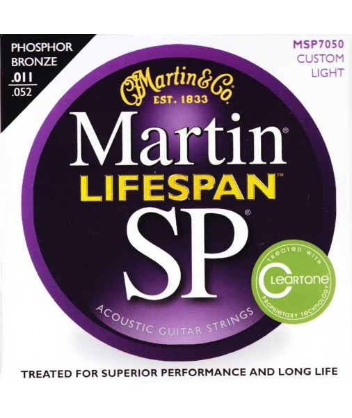 Martin SP Lifespan Phosphor Bronze Treated Acoustic 11 TO 52 MSP7050
