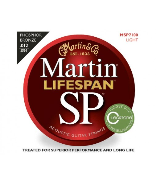 Martin SP Lifespan Phosphor Bronze Treated Acoustic 12 TO 54 MSP7100