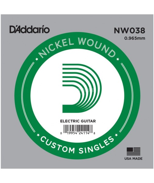 .038 D'Addario Nickel Wound Electric Single String  NW038