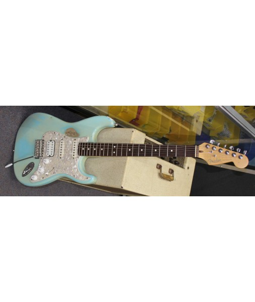 Hire Fender Strat USA Surf Green Aged