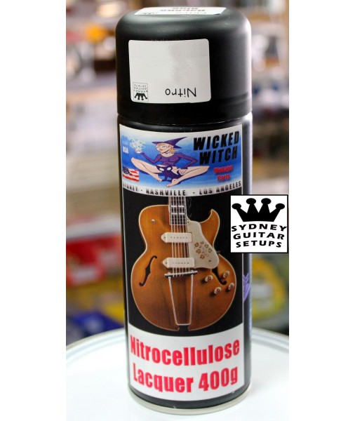 Nitrocellulose BLACK  Lacquer 400g Spray Can