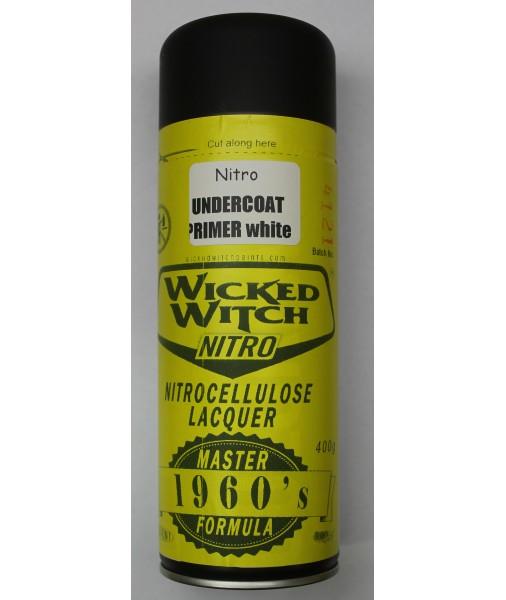 Nitrocellulose WHITE Undercoat Prime 400g aerosol spray can