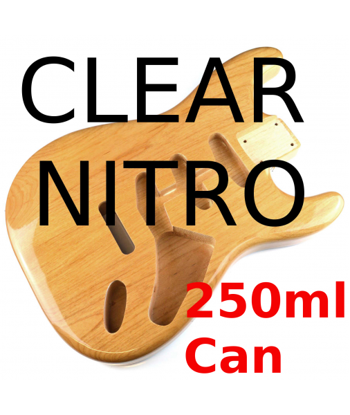 Clear Top Coat Gloss Nitrocellulose Lacquer 250ml N250ml