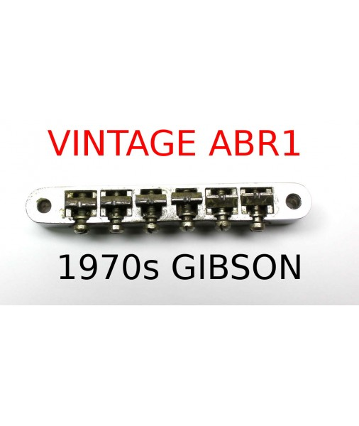 1970s Gibson Tune-o-matic ABR-1 Bridge -- Patent 2.740.313